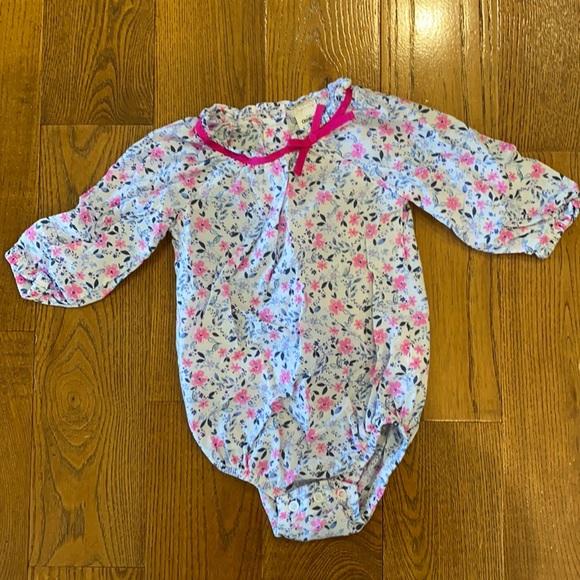Oshkosh EUC Floral Bodysuit
